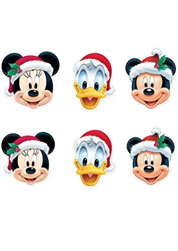 Star cutouts - Stsmp265 - 6 Masques pour Adulte - Mickey Et Friends - Noel - Taille Unique