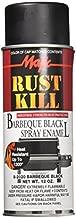 Majic 8-2020-8 Rust Kill Spray Enamel, Barbeque Black, 12 oz