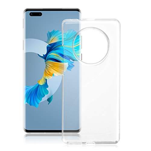 ROVLAK Hülle für Huawei Mate 40 Pro Kratzfeste TPU Weiche Silikon Hülle+Stoßfestes Dünnes Klares Tasche für Huawei Mate 40 Pro Smartphone Cover