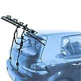 EMMEA PORTABICI Posteriore Auto 3 Bici Regolazione Cinghie Biciclette Compatibile con Hyundai IX20 5P (10-15) Acciaio CARICO Max 45KG Protezione TELAI Cruiser Delux