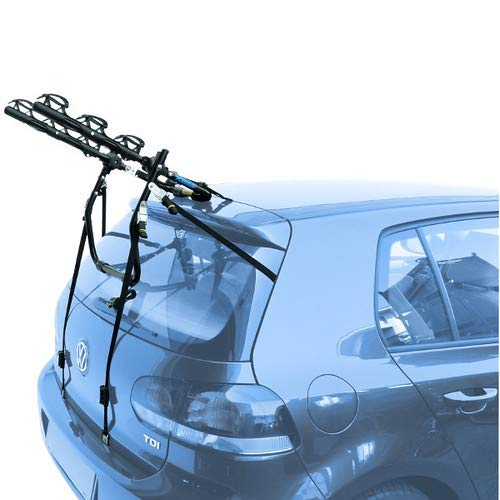 EMMEA PORTABICI Posteriore Auto 3 Bici Regolazione Cinghie Biciclette Compatibile con Mitsubishi ASX (Rails) 5P (2010-) Acciaio CARICO Max 45KG Protezione TELAI Cruiser Delux