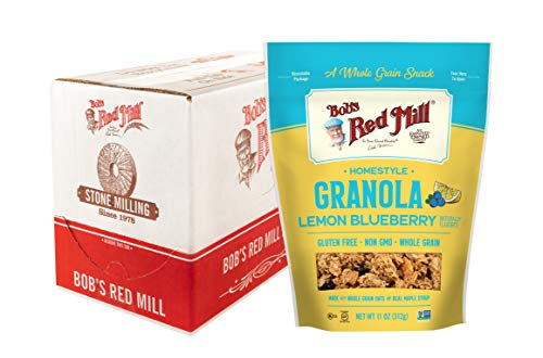 Bob's Red Mill Home-Style Lemon Blueberry Granola, 11 Oz (Pack Of 6)