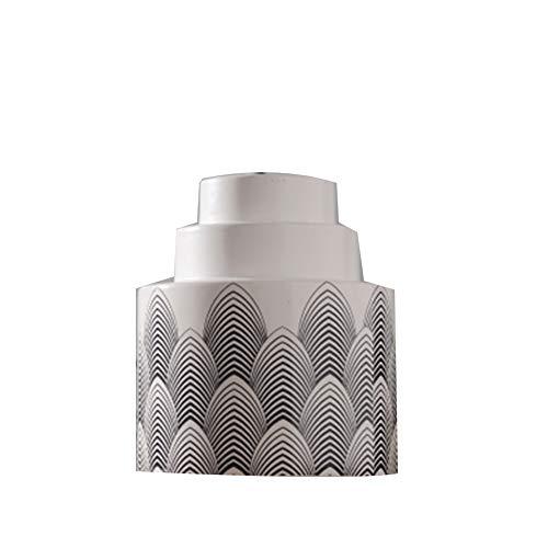 YYFZ - Jarrón cilíndrico Moderno de cerámica Color Blanco Estilo nórdico para arreglos Florales, decoración Moderna Minimalista Creativa para Sala de Estar