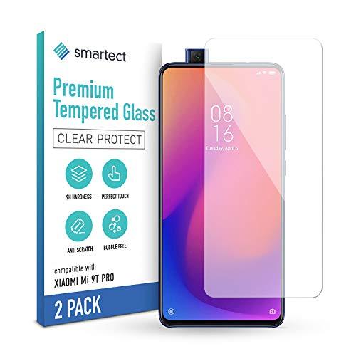 smartect Schutzglas kompatibel mit Xiaomi Mi 9t Pro [2 Stück] - Tempered Glass mit 9H Härte - Blasenfreie Schutzfolie - Anti-Kratzer Displayschutzfolie