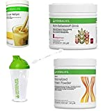 Herbalife Quick Combo Formula 1 Shake Vanille (550 g), proteína en polvo, multifibra en polvo, cuchara y coctelera