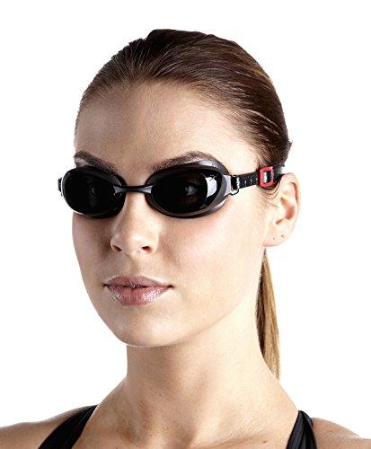 Speedo Aquapure Optical Gog AU, Occhialini da Nuoto Unisex-Adulto, Oxid Grigio/Grigio Fumo, 4