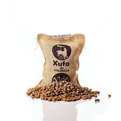 Saco yute 250 gr. Chufa tradicional D.O. València - Món Orxata. Directa de familias agricultoras. Ideal para consumo crudo o elaboración de horchata. Conservar a menos de 15º