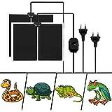 Liuer 2PCS Tappetino Riscaldante per Rettili Animali Domestici Mat Tappetino Riscaldante Terrario con Regolatore di Temperatura per Tartaruga,Serpenti,Lucertola,Geco,Ragno (14W)