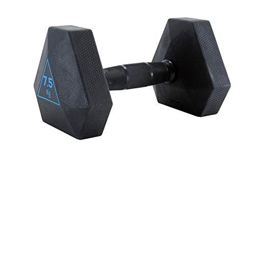 FZH Mancuerna mancuerna hexagonal de la manija cromo antideslizante Home Fitness 7,5 kg * 2