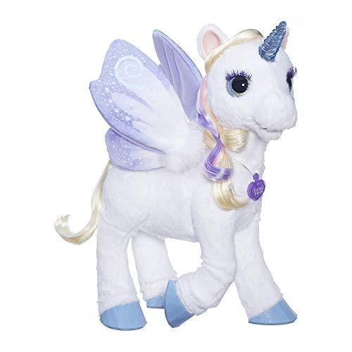 furReal StarLily, Jouet en peluche interactif My Magical Unicorn, corne lumineuse, 4 ans et plus (exclusivité Amazon)