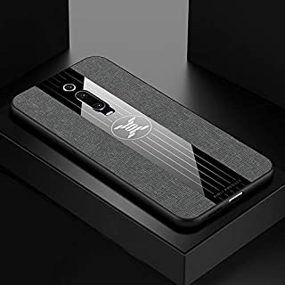 QFH For Xiaomi Mi 9T / Redmi K20 Stitching Cloth Texture Shockproof TPU Protective Case(Black) new style phone case (Color : Gray)