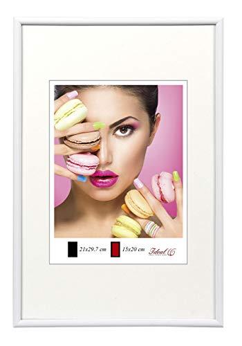 Photo Style Bilderrahmen in 20x30 cm bis 50x70 cm DIN Format Bilder Foto Rahmen: Farbe: Weiß   Format: 50x70