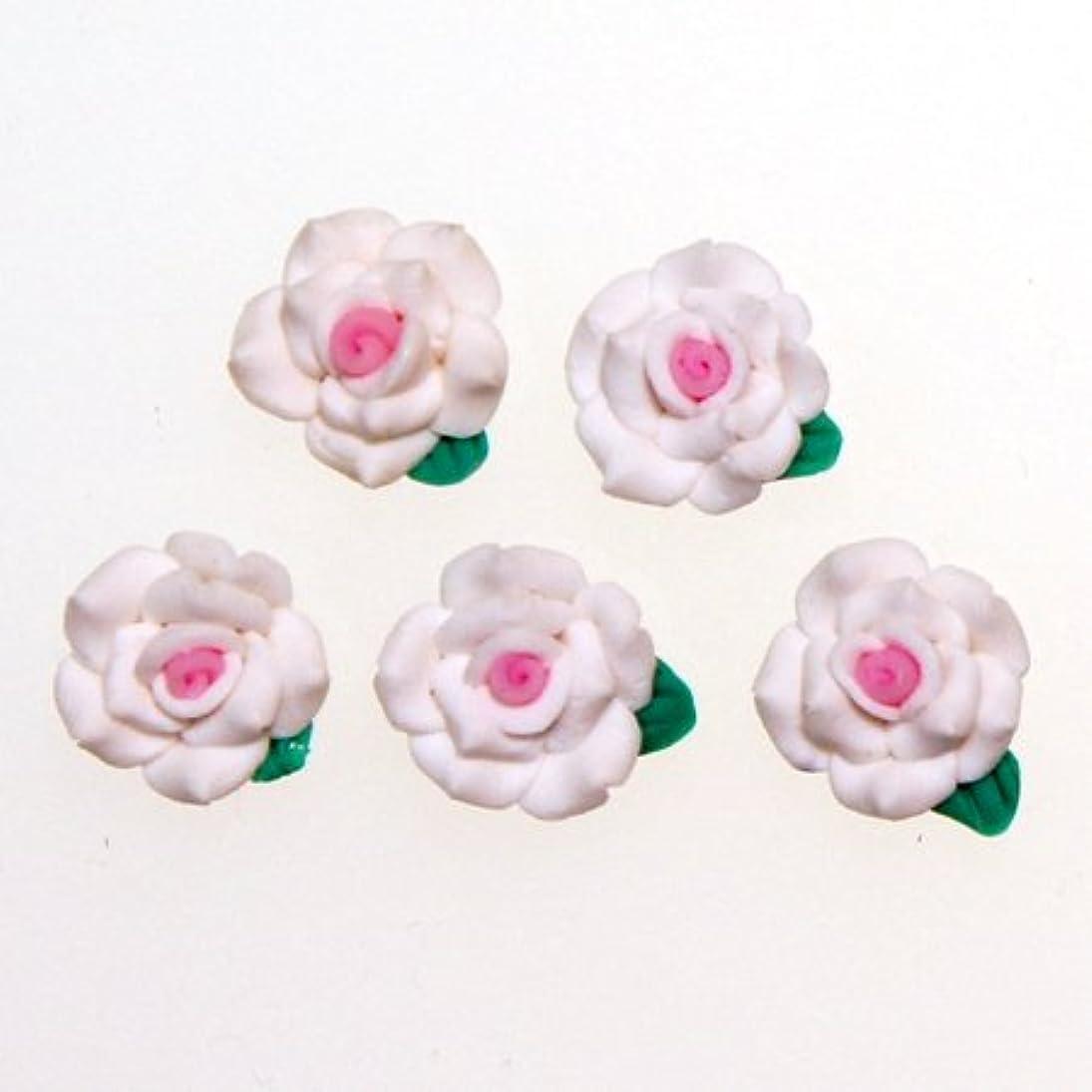 ジャンプ海洋のログデコパーツ 1.3cm少し大きめの樹脂薔薇2色使い[d-r4] レジンパーツ レジンクラフト