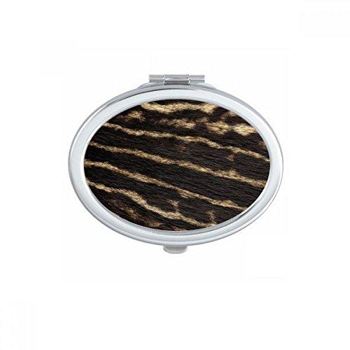 DIYthinker Lin Papillon Tradition Conception de Broderie Ovale Maquillage Compact Miroir de Poche Portable Mignon Petit Miroirs Main Cadeau Multicolor