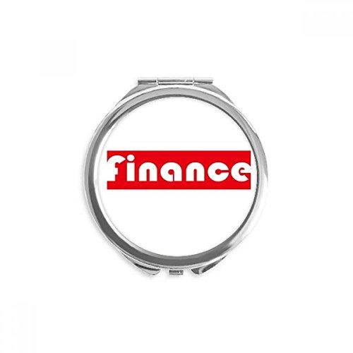 DIYthinker cours et major finance miroir rond rouge maquillage de poche à la main portable 2,6 pouces x 2,4 pouces x 0,3 pouce Multicolore