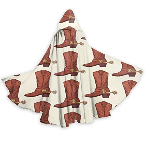 AQQA Guapas Botas de Caballero britnico Retro Capas para Adultos Capa de Disfraz con Capucha 59 Pulgadas para Navidad Disfraces de Halloween Cosplay