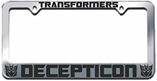 Transformers Decepticon Chrome Metal License Plate Frame with 2 caps