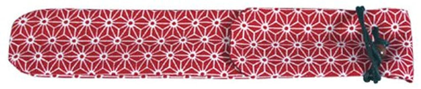 束ルアーパースブラックボロウ丸十 マイ箸袋 麻の葉 赤
