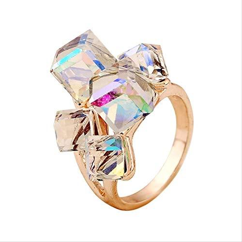 IWINO damesmode verlovingsringen voor dames Luxe vintage Cristales-ring met stenen