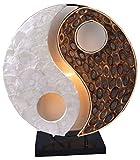 Deko-Leuchte YING YANG NATUR, rund, Natur-Material, Höhe ca. 30 cm,...