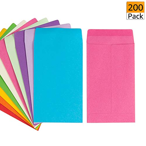200 Pack Self-Adhesive Small Parts Packets Envelopes Kraft Self Sealing Seed Envelopes Coin Stamps Storage for Home, Garden, Wedding or Office (2.25