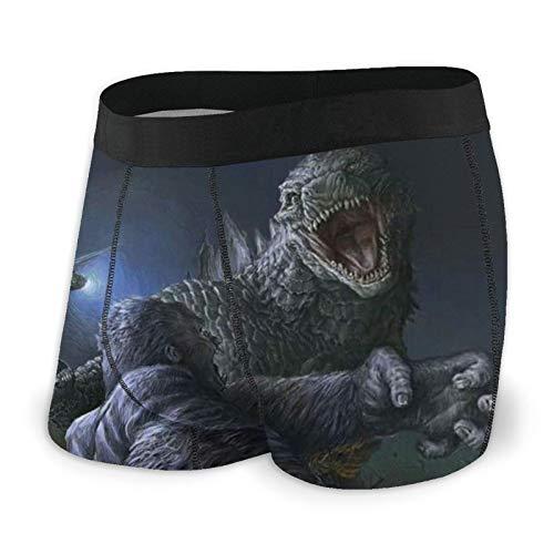 AMSYES (God-Zilla Vs. King Kong) Men's Boxer Briefs Short Sports Underwear for Men's Black