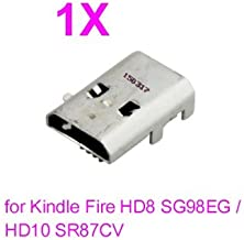 PHONSUN USB Charging Port Replacement for Amazon Kindle Fire HD8 SG98EG