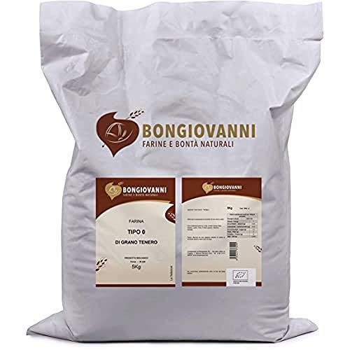 BONGIOVANNI FARINE e BONTA' NATURALI Farina Tipo 0 di grano Tenero Bio, per Prodotti da Forno Dolci e Salati - Formato da 5kg