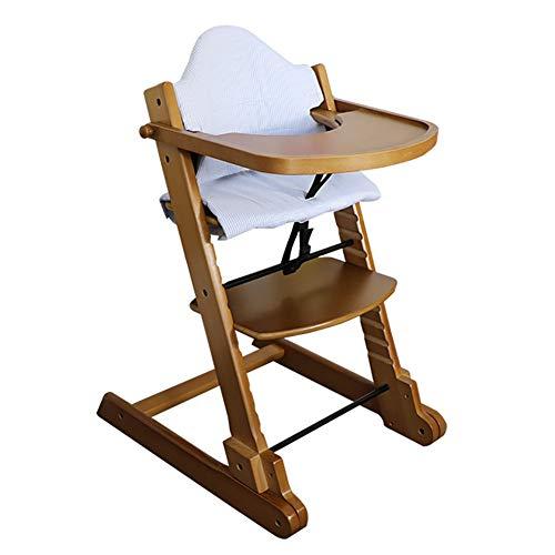 Chaises hautes en Bois Pliables, Chaise De Salle À Manger Portable pour Bébé, Siège De Repas Multifonction pour Tout-Petits avec Plateau- Couleur Miel