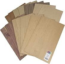 "14 Wood Variety Pack   5mm 1/4th inch, MDF Core, 12""x19"" Premium Grade A1, Single Sided, Glowforge Ready, Unfinished   2X Walnut, 2X Cherry, 2X Maple, 2X White Oak, 2X Cedar, 2X Mahogany, 2X Red Oak"