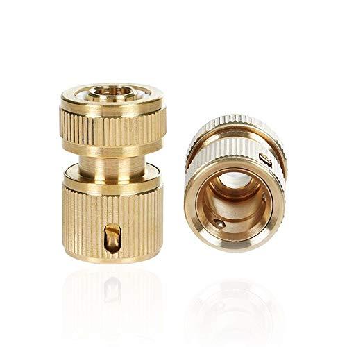 """Preisvergleich Produktbild Jadelotus 13mm (1 / 2"""") Messing Schlauchverbinder Schlauchstück und Wasserstop Set 2 Stück"""