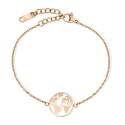LENIRA Weltkugel Armband (Roségold)