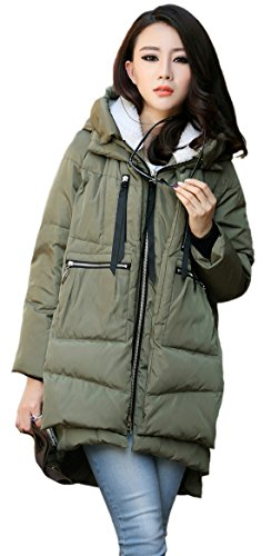 Orolay Women's Thickened Down Jacket Green M