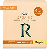 Rael 100% Organic algodón Regular Panty Liners–Unscented–Protegeslips–Natural diario–Protegeslips