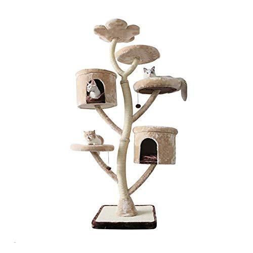Tres Capas de sisal Gato Columpio, Arena for Gatos Rascador El Gato Que Salta Gato Junta Rascar, 79inch Gato Actividad Arbol de Servicio Pesado Cat Corner Torre de la casa del Animal