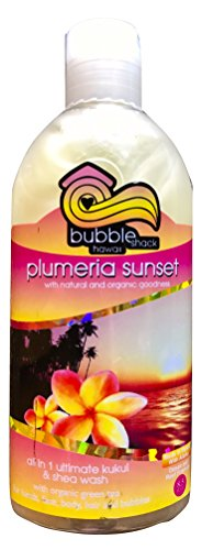 Bubble Shack Hawaii Plumeria Sunset All in 1 Ultimate Kukui and Shea Wash