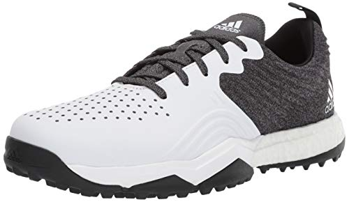 adidas Men's Adipower 4ORGED S Golf Shoe, core Black/FTWR White/Silver Metallic, 9.5 M US