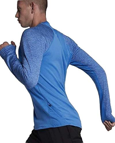 Nike Therma-Sphere Element Photo Blue Men s Long Sleeve Running Shirt Size S