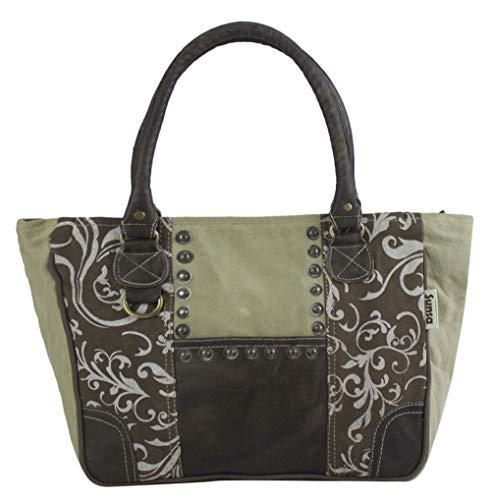Sunsa handväska kvinnor kanvas väska tygväska stor Shopper axelväska stor väska sportväska portfölj väskor för kvinnor damer handväskor avslappnad vintage praktiska presenter handväskor rea