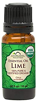 US Organic Lime Essential Oil - Certified Organic Steam Distilled - W/Euro droppers  More Size Variations Available   10 ml / .33 fl oz