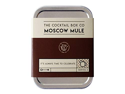The Moscow Mule Cocktail Kit by The Cocktail Box Co. - Makes Premium Hand Crafted Cocktails. Great gift for any cocktail lover and makes the perfect travel companion! (3 Drinks)
