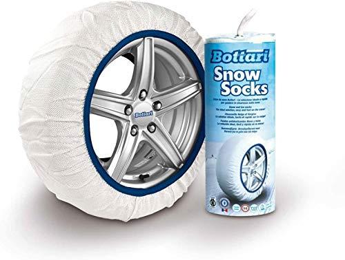 Bottari 68042 Cadenas textiles para nieve, Talla 71, Compatible con ABS y ESP, Certificado TUV y GS Onorm