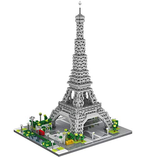 dOvOb Architecture Eiffel Tower Micro Blocks Set, 3369 Pieces Mini Bricks 3D Puzzle Toy, Gift for Adults and Kids