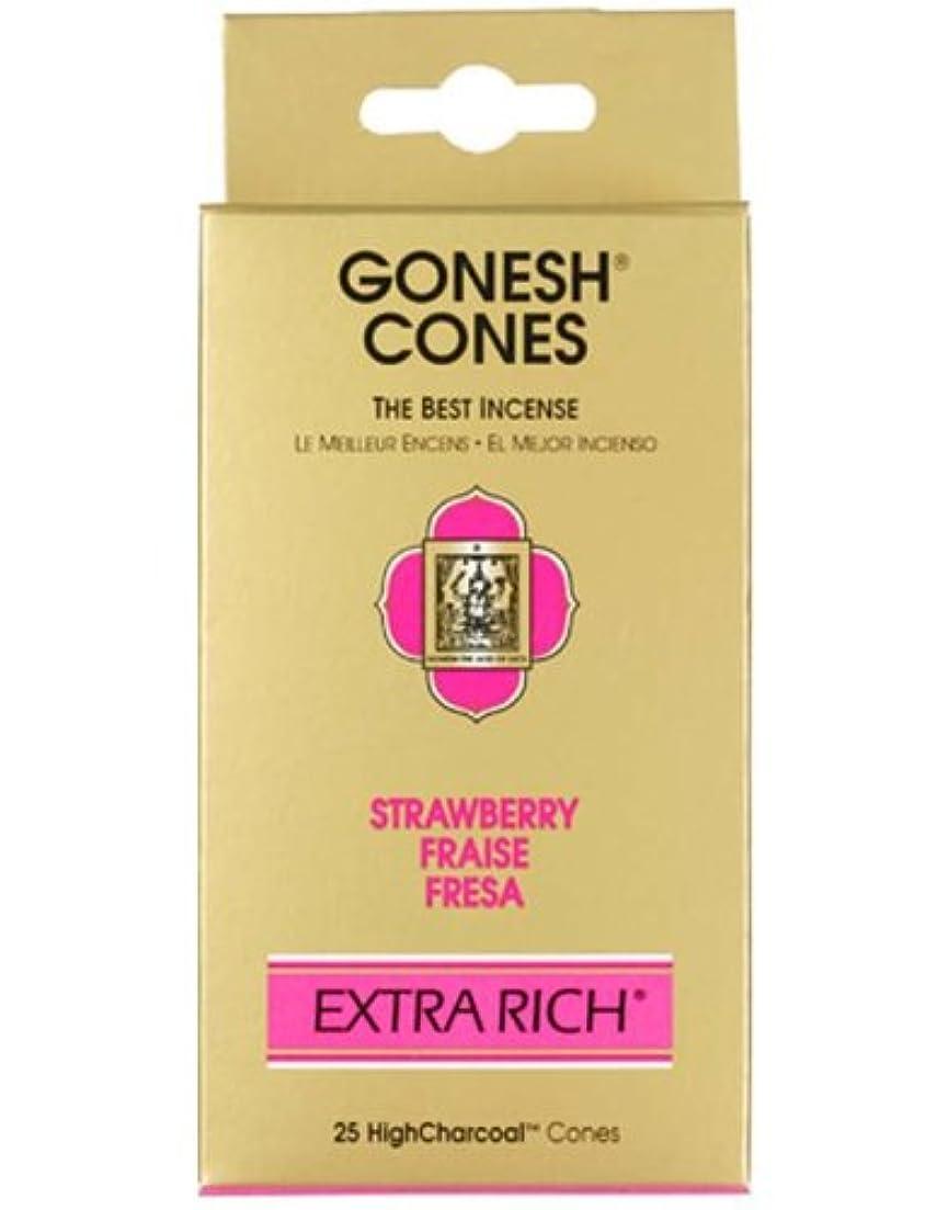 アメリカ看板気楽なガーネッシュ(GONESH) エクストラリッチ インセンス コーン ストロベリー 25個入(お香)