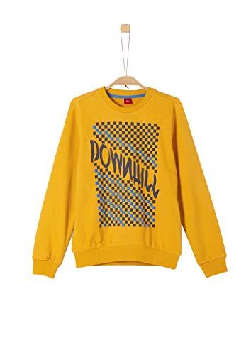 s.Oliver Jungen 61.908.41.2776 Sweatshirt, Gelb (Dark Yellow 1549), (Herstellergröße:XL/REG)