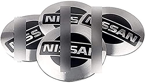 4pcs Coche Tapacubos Centro Rueda Para Nissan Qashqai Tiida Almera Altima Teana X-Trail, Reemplazo Con Logo Decorativa Accesorios
