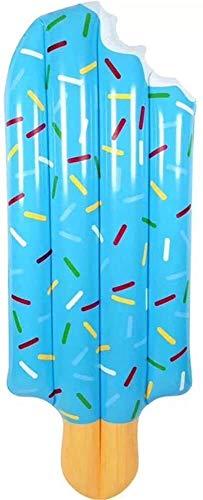 Schwimmen Wasser Aufblasbare Spielwaren, erwachsenes Wasserbett Wasser-Schwebe Aufblasbares Row Ice Cream Sonnenliegen Spielen Wasser Sommer Wasserspielzeug (Color : Blue)