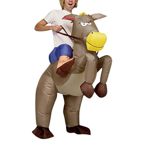 semen Air-Suit Aufblasbares Kostüm Pferd Dragon und Cowboy Fasching Karneval Spielzeug Bekleidung Funny Lustig Unisex Spielbekleidung