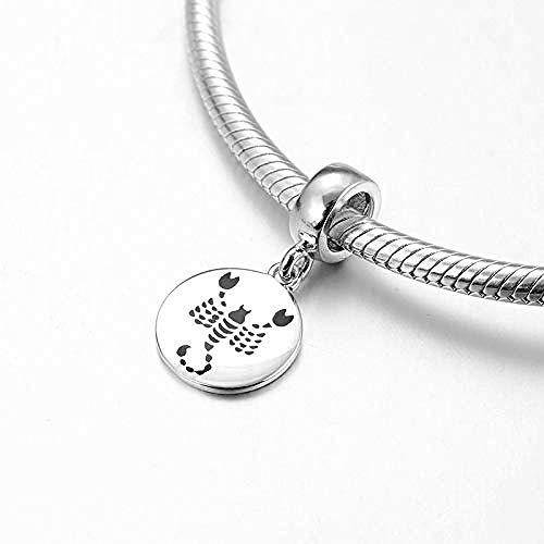 Zilveren Kralen Bedels,Nieuwe 925 Sterling Zilver 12 Sterrenbeeld Zodiac Schorpioen Hangers Passen Originele Charms Armband Sieraden Maken