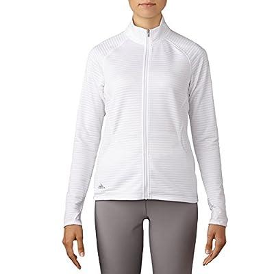 adidas Golf Women's Golf Essentials Textured Jacket, White, Medium